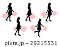 silhouette of woman 29215531