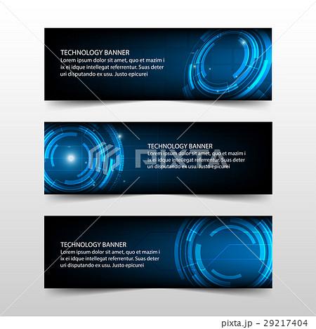 blue technology corporate business banner template 29217404 pixta. Black Bedroom Furniture Sets. Home Design Ideas