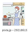 女性 掃除 イラスト 29218615