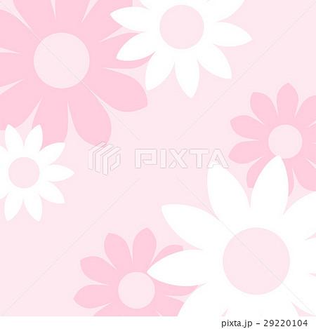 ガーリーでかわいい 大きな花の背景素材 正方形 ベクター 29220104