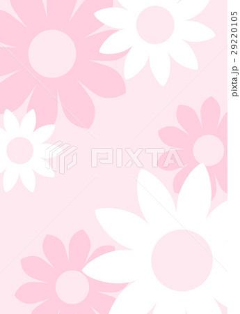 ガーリーでかわいい 大きな花の背景素材 縦長 ベクター 29220105