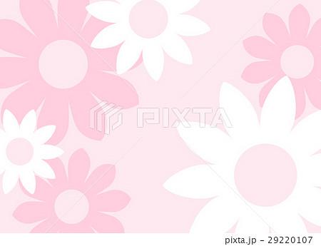 ガーリーでかわいい 大きな花の背景素材 横長 ベクター 29220107