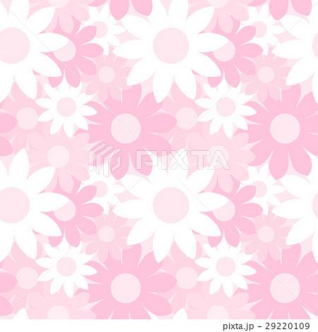ガーリーでかわいい 大きな花柄のシームレスパターン 総柄 ピンク系 ベクター 29220109