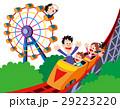 ジェットコースター、観覧車、遊園地、家族、家族レジャー 29223220
