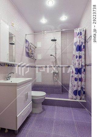 The interior of a bathroom with WCの写真素材 [29223738] - PIXTA