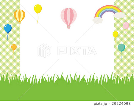 草原と風船の背景素材 29224098