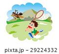 昆虫採集、虫取り、虫あみと子供、カブトムシ 29224332
