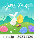 easter bunnies greeting card 29231320