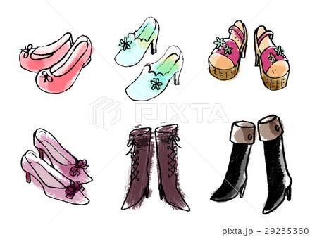 女性靴のイラスト素材 [29235360] , PIXTA