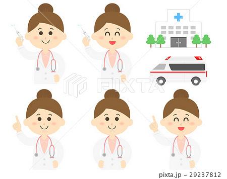 女医のイラストセット 29237812