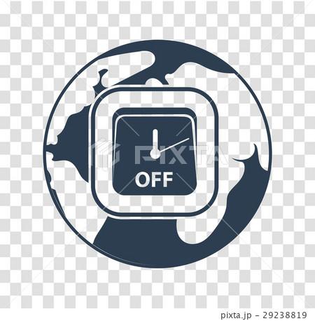 silhouette icon Earth Hourのイラスト素材 [29238819] - PIXTA