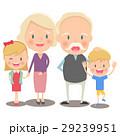 おじいさん おばあさん 孫のイラスト 29239951