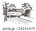 青葉城 隅櫓 仙台 水彩画 29241475