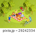 Family Summer Countryside Picnic Isometric View  29242334