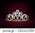 Golden Realistic Diadem Composition 29242399