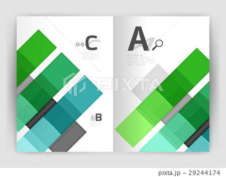 Geometrical brochure a4 business templateのイラスト素材 [29244174] - PIXTA