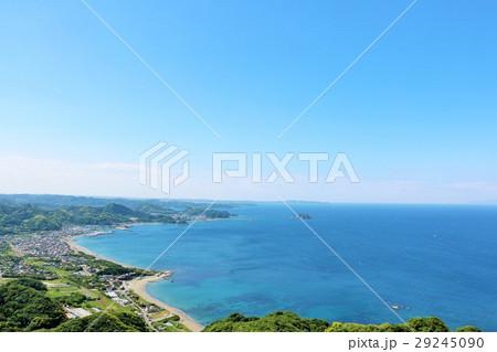 千葉県 夏の青空 鋸山からの展望 29245090