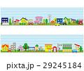 住宅地の家の並び(空と緑) 29245184