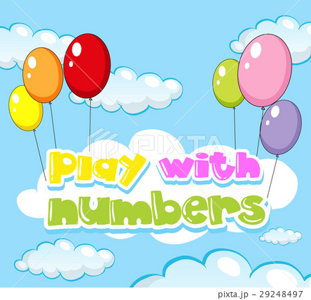 background design for play with numbersのイラスト素材 29248497 pixta