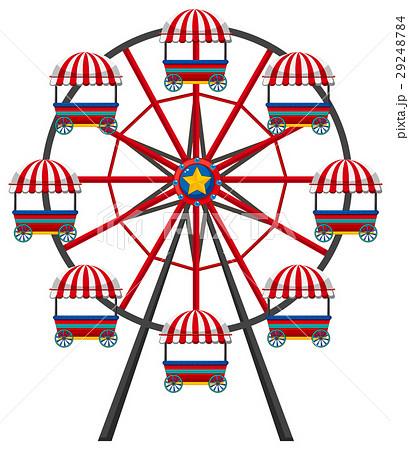 ferris wheel on white backgroundのイラスト素材 29248784 pixta
