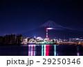 富士市 工場夜景 富士山  29250346