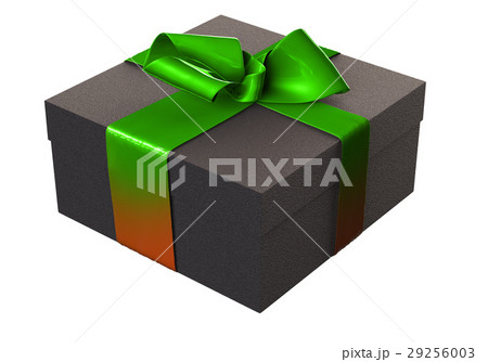 Striped Present box with gifts tied green red bowのイラスト素材 [29256003] - PIXTA