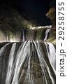 紅葉に彩られた袋田の滝(ライトアップ) 29258755