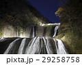 紅葉に彩られた袋田の滝(ライトアップ) 29258758