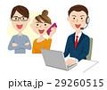 人物 オペレーター コールセンターのイラスト 29260515