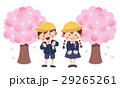 小学生 桜 入学のイラスト 29265261