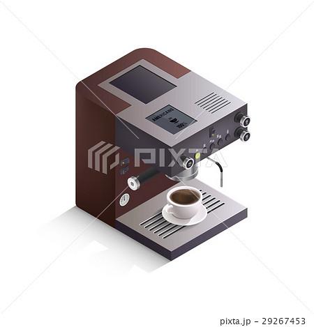 Coffee Machine Isometric Illustrationのイラスト素材 [29267453] - PIXTA