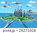 スマートシティ 未来都市 エコロジーのイラスト 29271026