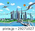 スマートシティ 未来都市 エコロジーのイラスト 29271027