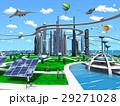 スマートシティ 未来都市 エコロジーのイラスト 29271028