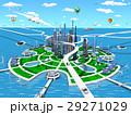 スマートシティ 未来都市 エコロジーのイラスト 29271029