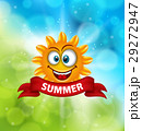 Summer Background with Smiling Sun 29272947