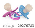 blue and pink baby pacifiers, 3D rendering 29276783