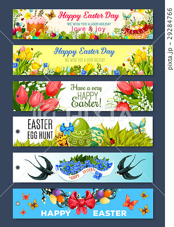 Easter gift tag set with cartoon holiday symbols easter gift tag set with cartoon holiday symbols negle Image collections