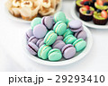 Turquoise and violet macarons. Wedding cakes on 29293410