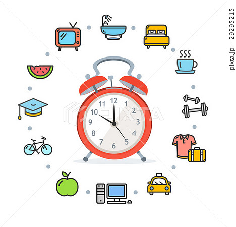 Daily Routines Concept Healthy Life. Vector 29295215