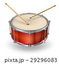 Red drum with drumsticks 29296083