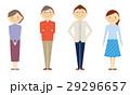 家族 全身 2世代 セット イラスト 29296657