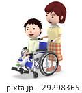 車椅子 ギブス 怪我のイラスト 29298365