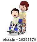 車椅子 ギブス 怪我のイラスト 29298370