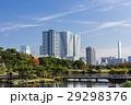 浜離宮恩賜庭園 空 高層ビルの写真 29298376