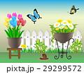 花 植木鉢 春のイラスト 29299572