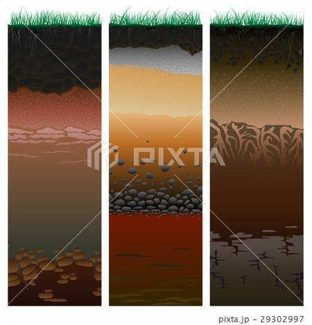 Cut of soil columns (profile).のイラスト素材 [29302997] - PIXTA