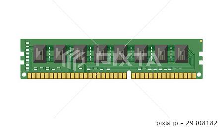 RAM flash memory chip isolated on white.のイラスト素材 [29308182] - PIXTA