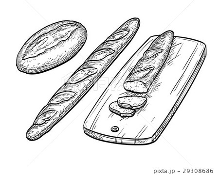 Baguette and rustic bread. 29308686