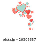 Pink hearts with drops. Valentines Day Greeting 29309637